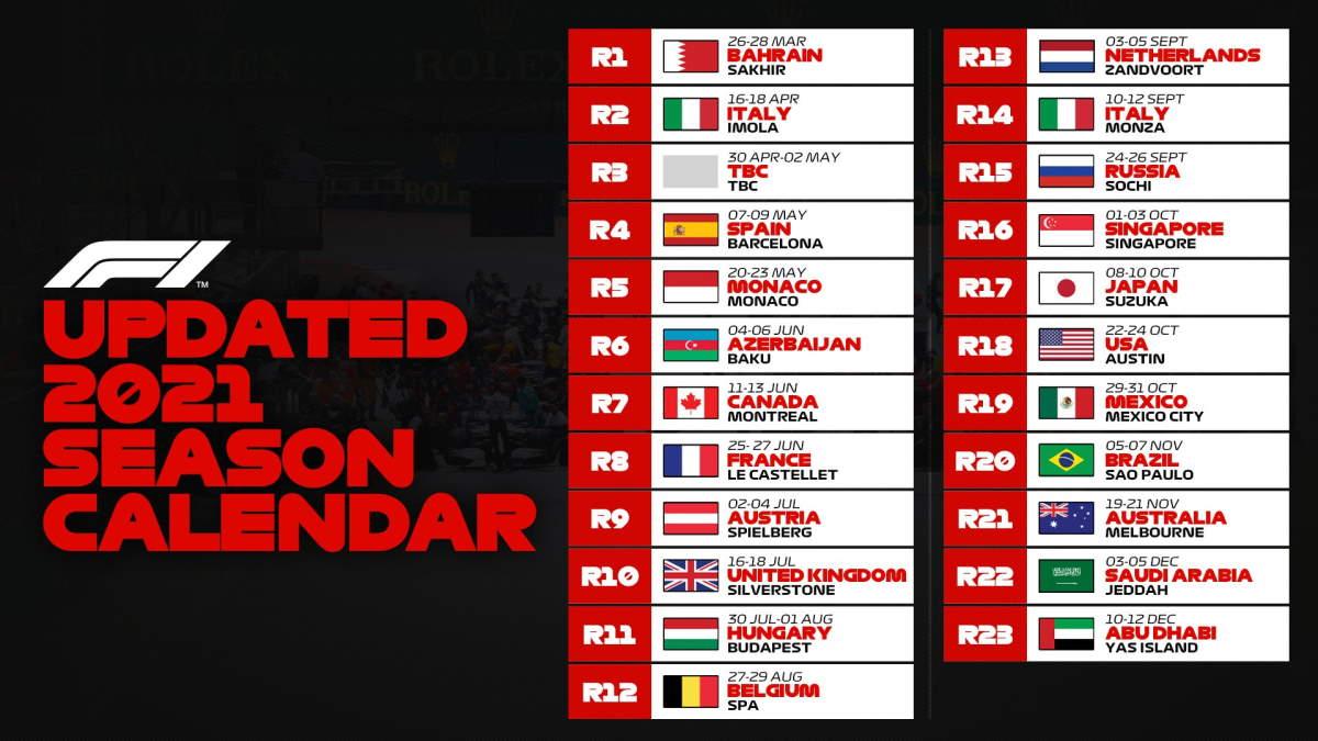Mondiale 2021 di Formula 1 al via in Bahrain il 26-28 marzo