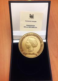 Medaglia d'oro alla giornata Unitalsi