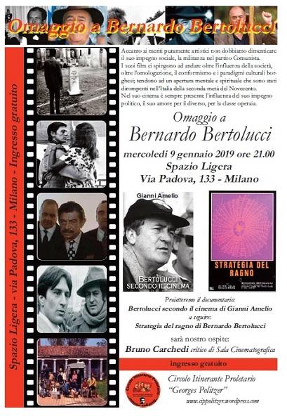 Risultati immagini per Omaggio a Bernardo Bertolucci Circolo Itinerante Proletario Georges Politzer