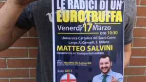 Matteo Salvini e la censura dell'università Cattolica