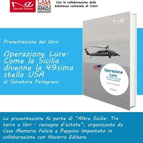 """Cinisi: Presentazione del libro """"Operazione Lure. Come la Sicilia divenne la 49sima stella USA"""" di..."""