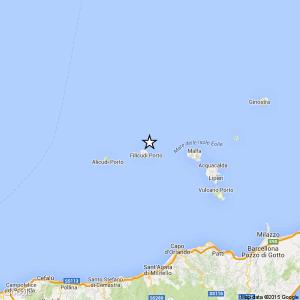 Sicilia, terremoto Ml 2.5 il 27-04-2016 ore 15:44 Isole Eolie