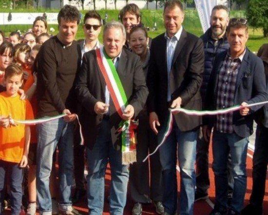 Inaugurata a Canzo (CO) la nuova pista di atletica realizzata grazie alla generosità dei cittadini