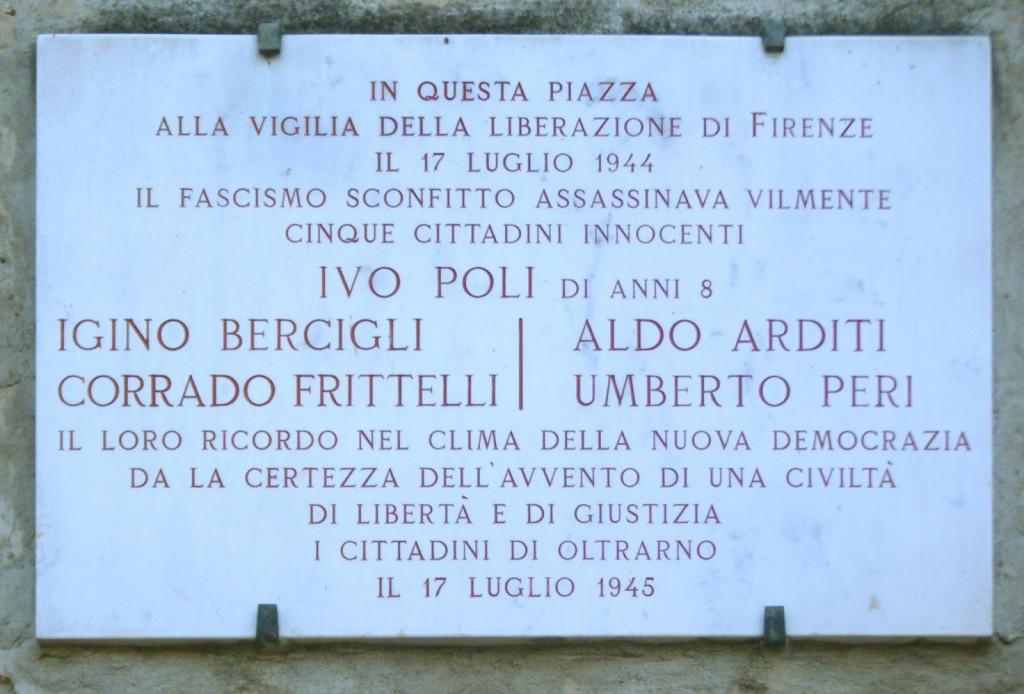 17 luglio 1944: Soldati repubblichini uccidono civili a piazza Tasso a Firenze