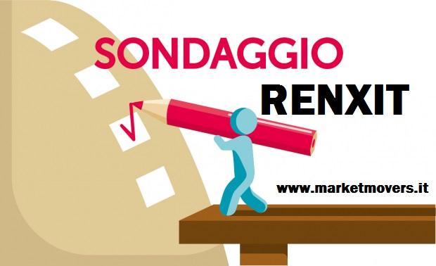 Sondaggio sulla RENXIT, partecipa ed esprimi il tuo voto SI o NO ?