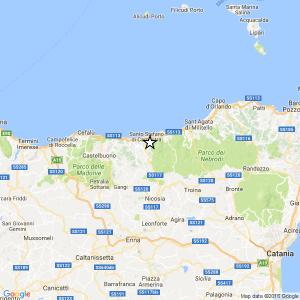 Terremoto ML 2.5 del 28-04-2017 ore 04:17 – 3 km SE San Marco d'Alunzio (ME)