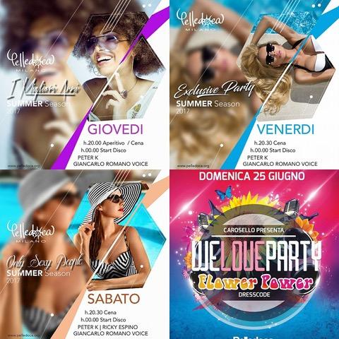 Pelledoca Milano, fine giugno pieno di top party… e l'1 luglio arriva Wlady
