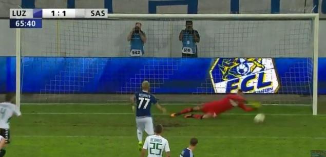 Il Sassuolo pareggia 1-1 a Lucerna e guarda con più ottimismo al ritorno di settimana prossima