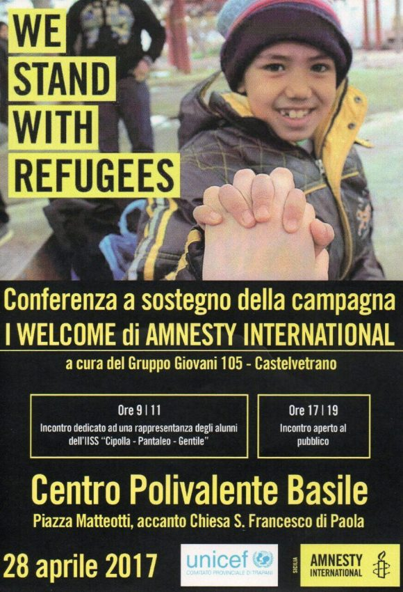 "A Castelvetrano la conferenza ""We stand with refugees"""