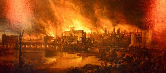 4 settembre 1666: Il grande incidendo di Londra raggiunge la massima estensione