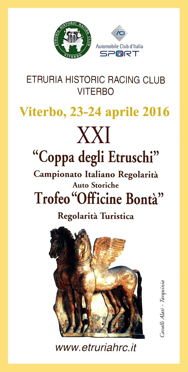 La Tuscia è pronta ad accogliere la XXI Coppa degli Etruschi.Quest'anno la manifestazione si svolgerà in anche notturna.
