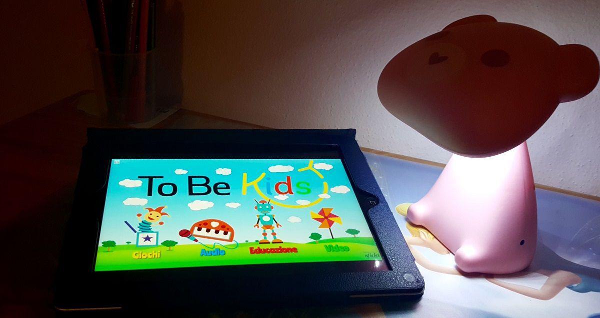 Una lampada intelligente e un portale per i bimbi: è To Be Kids!