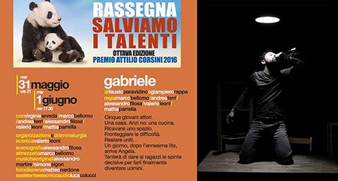 Fino all'6 giugno 2016 al Teatro Vittoria SALVIAMO I TALENTI - Premio Attilio Corsini