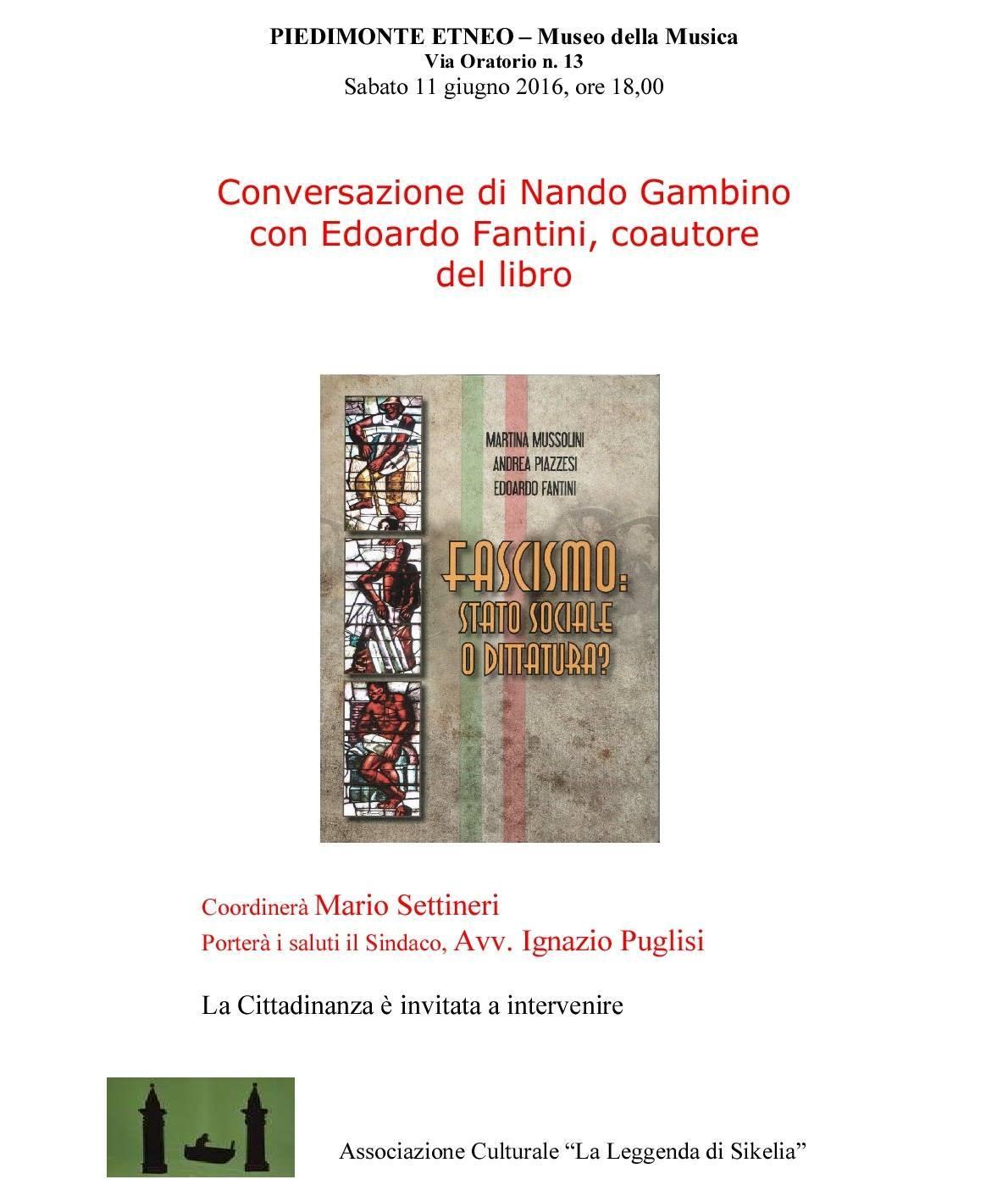 Incontro culturale a Piedimonte Etneo (CT)