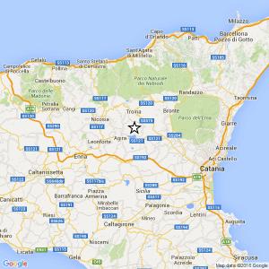Enna. Terremoto Ml 2.0 il 21-04-2016 ore 04:03 Regalbuto, Agira, Gagliano