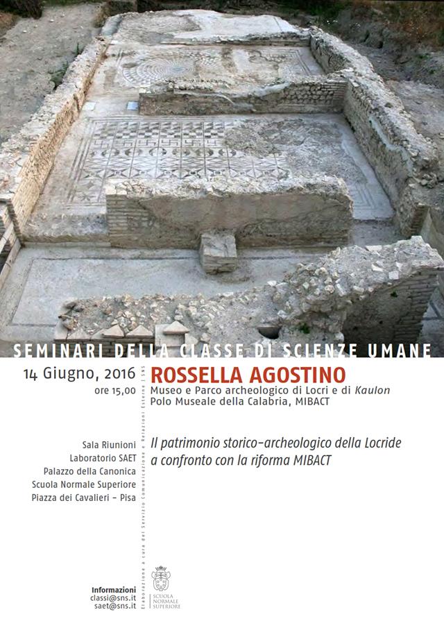 Pisa: il patrimonio storico-archeologico della Locride a confronto con la riforma MiBACT