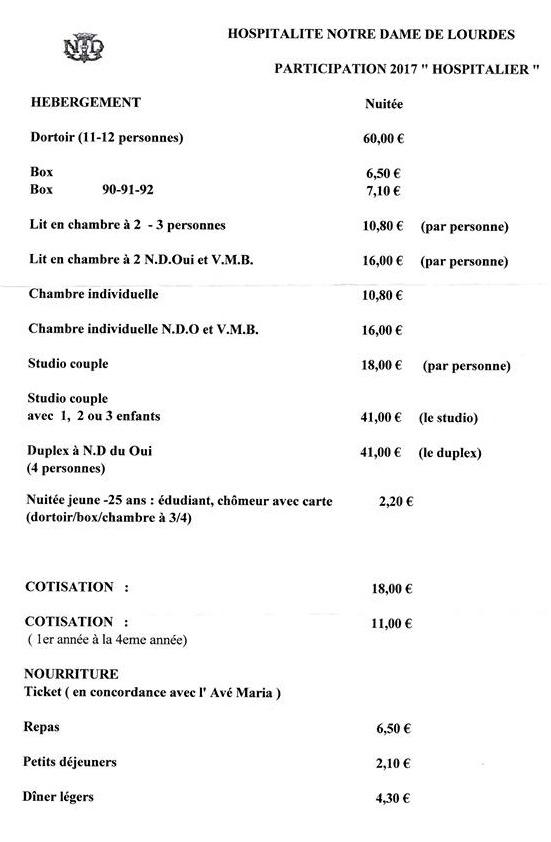 Prezzi per alloggi Hospitalitè NDL