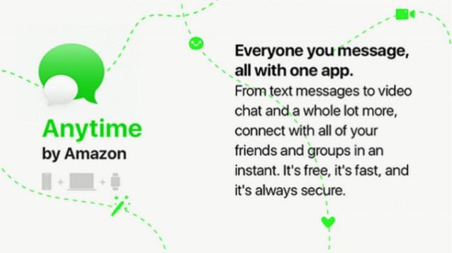 Amazon pronta a sfidare WhatsApp con l'applicazione Amazon Anytime