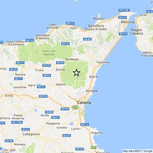 Terremoto ML 2.6 del 06-04-2017 ore 11:56 7 km NE Adrano (CT)