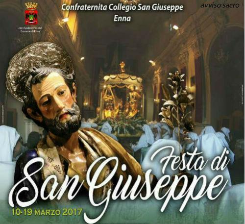 Enna, festa del Santo Patriarca Giuseppe