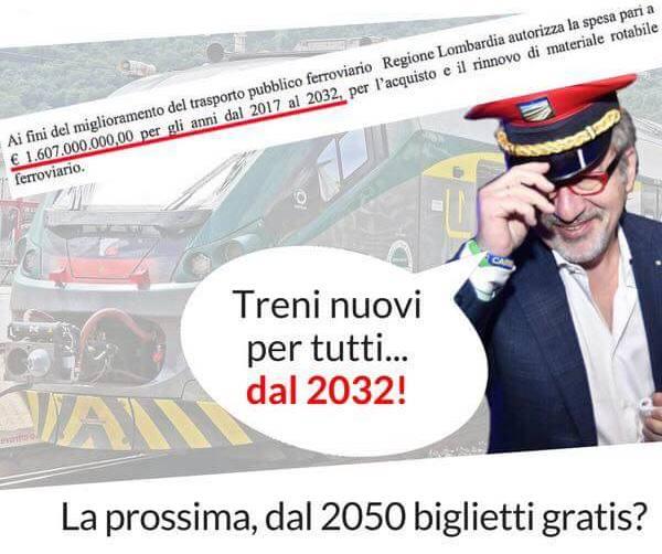 Per Marco Carra i nuovi treni in Lombardia li vedremo col cannocchiale