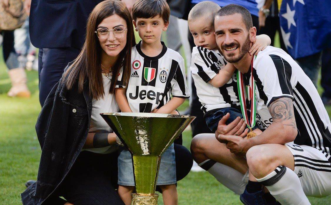 Juventus, la moglie di Bonucci spiega il motivo della tristezza del figlio Lorenzo