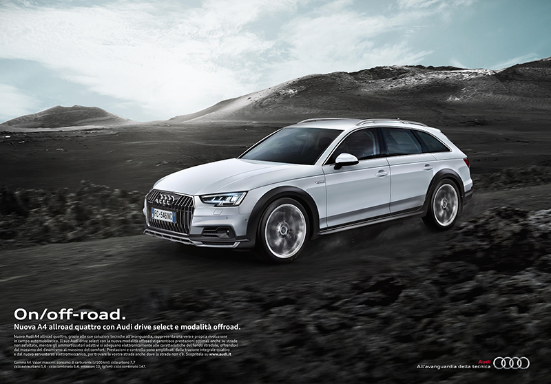 On/off-road copywriting per la nuova Audi A4 allroad quattro