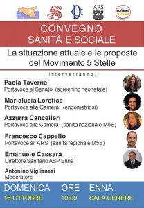 Enna. Convegno Sanità e Sociale: parlamentari M5S incontrano i cittadini