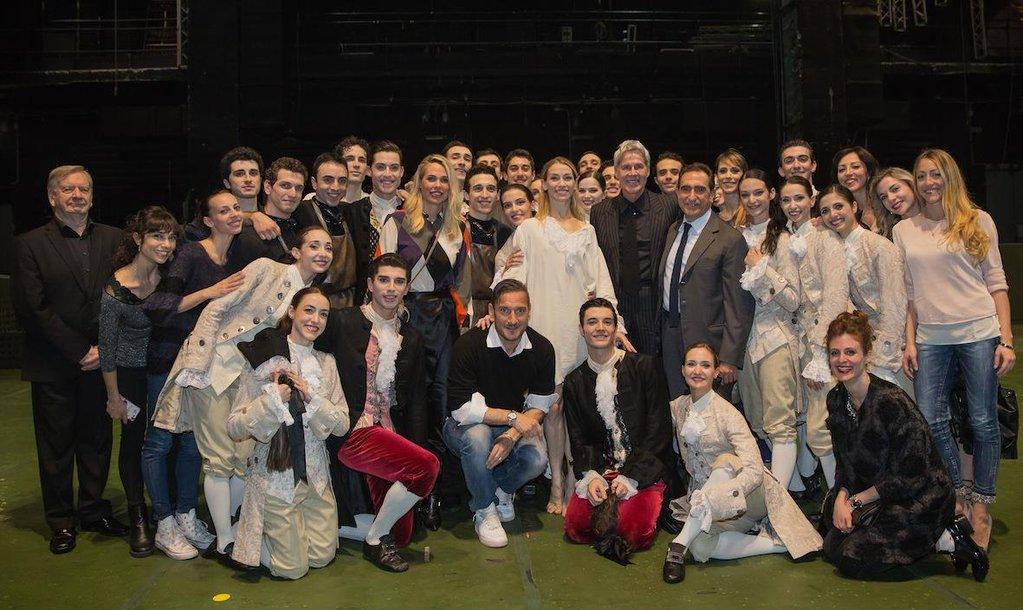 Claudio Baglioni e Totti al Teatro dell'Opera