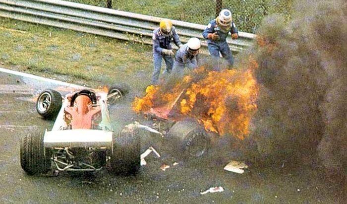 1 agosto 1976:Lo spaventoso incidente di Lauda al Nürburgring