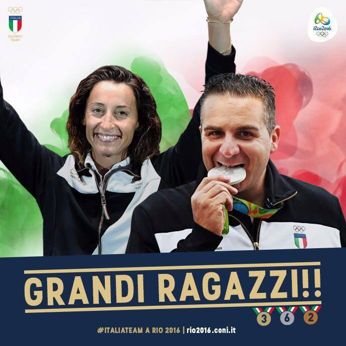 Elisa Di Francisca e Marco Innocenti vincono l'argento
