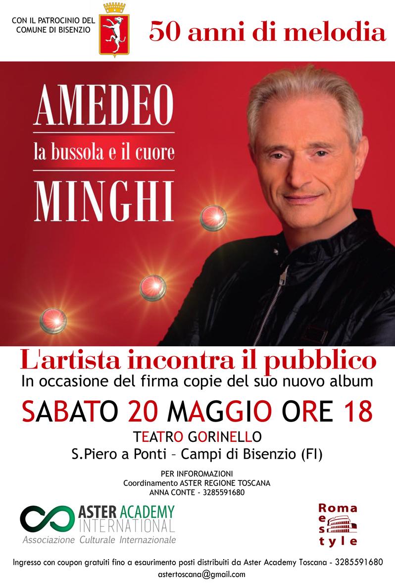 Amedeo Minghi incontro con il pubblico a Campi Bisenzio, Firenze
