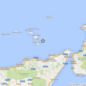 Sicilia, terremoto Ml 2.5 il 14-12-2016 ore 03:30 Tirreno Meridionale