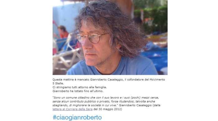 È morto a 61 anni Gianroberto Casaleggio, guru del Movimento 5 Stelle