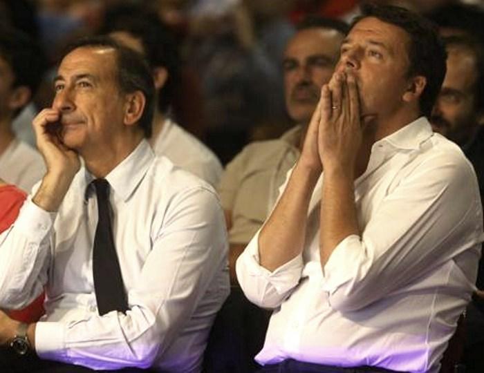 A Milano Matteo Renzi aumenta la frattura all'interno del Partito Democratico