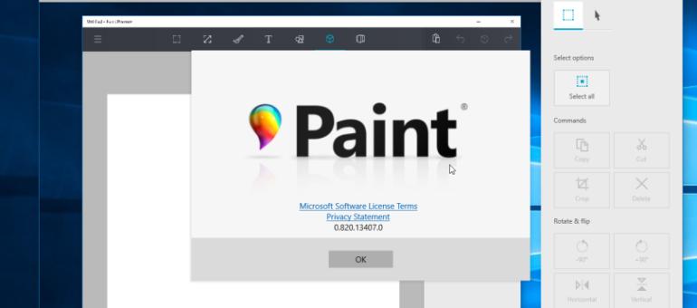 Paint: aggiornamento disponibile con l'Anniversary update   Surface Phone Italia