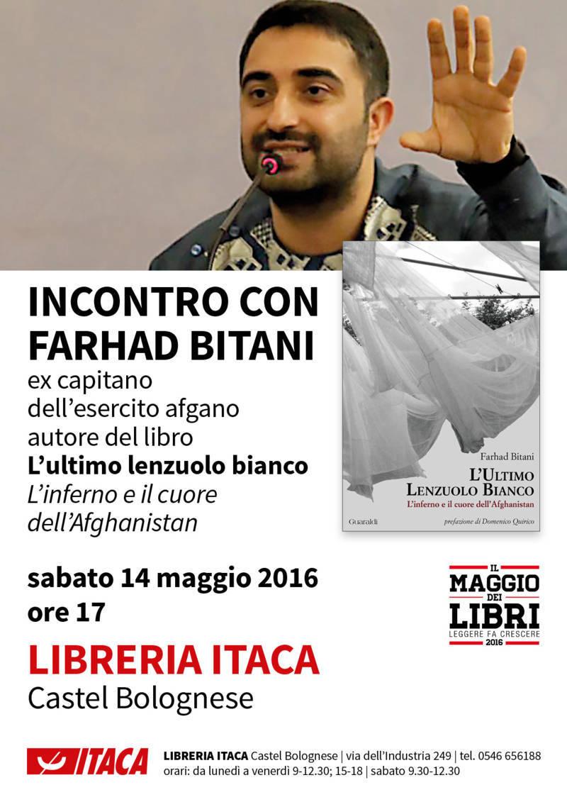 Sabato 14 maggio l'incontro con Farhad Bitani alla Libreria Itaca di Castel Bolognese