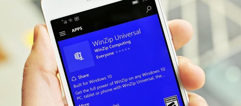 Universal App: ora è il turno di Winzip | Surface Phone Italia