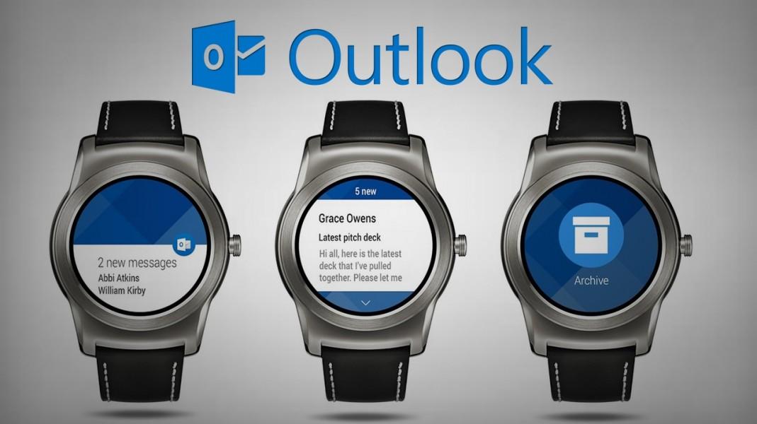 Microsoft rilascia le watch face di Outlook per Android Wear