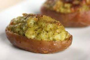 Patate ripiene con formaggio e funghi