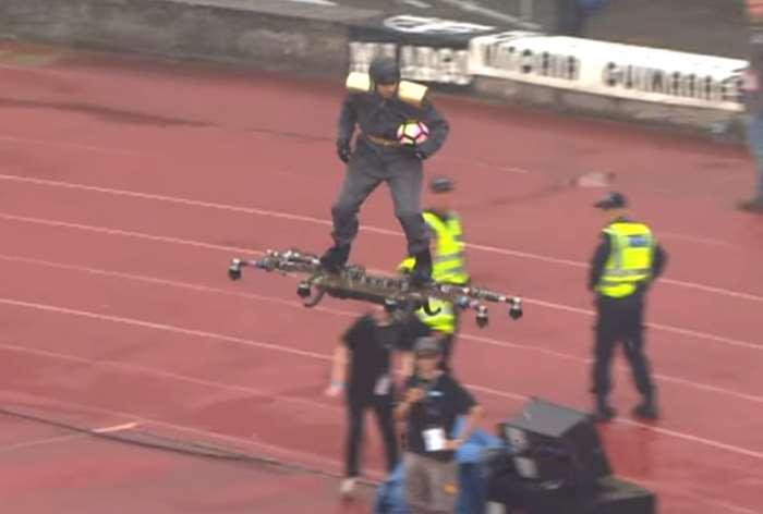 Nella finale di Coppa del Portogallo il pallone è stato consegnato utilizzando un drone
