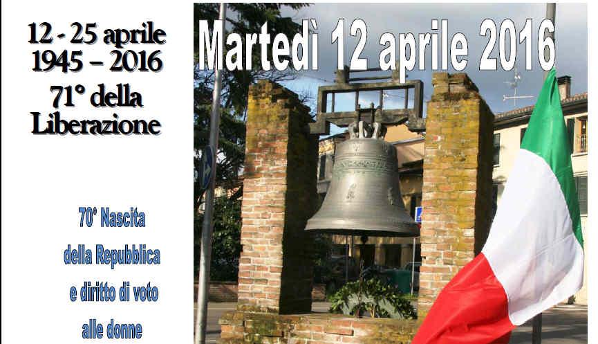 Martedì 12 aprile si ricorda il 71° anniversario Liberazione di Castel Bolognese