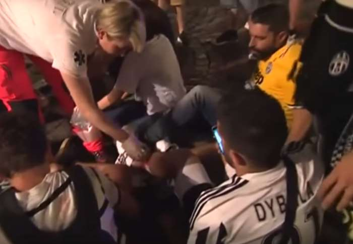 A causa di un petardo oltre 1500 feriti tra i tifosi che in piazza San Carlo assistevano alla finale di Champions League