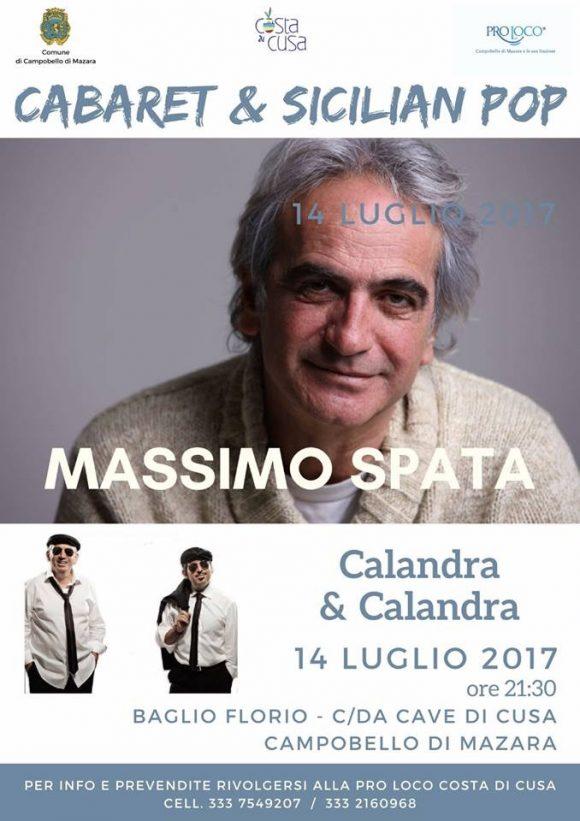 Massimo Spata e i Calandra e Calandra, il 14 luglio, al Baglio Florio delle Cave di Cusa