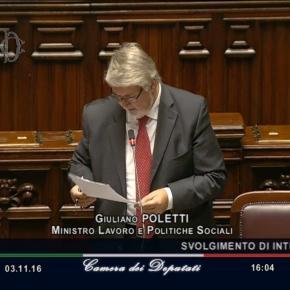 Pensioni e lavoratori precoci, le novità al 4 novembre: la replica del Ministro Poletti sulla quota 41