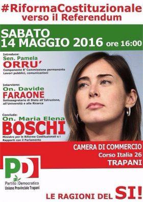 """Ministro Boschi a Trapani. Incontro sulla """"Riforma Costituzionale"""""""