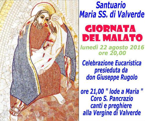 Enna. 22 agosto ore 20: DIRETTA dal Santuario di Maria SS di Valverde Santa Messa del Volontariato e...