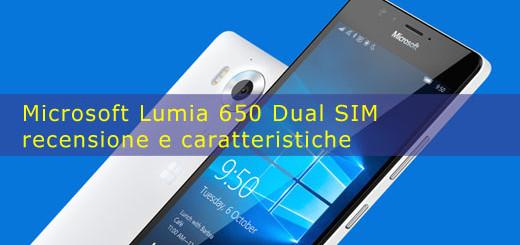 Microsoft Lumia 650 Dual SIM recensione e caratteristiche