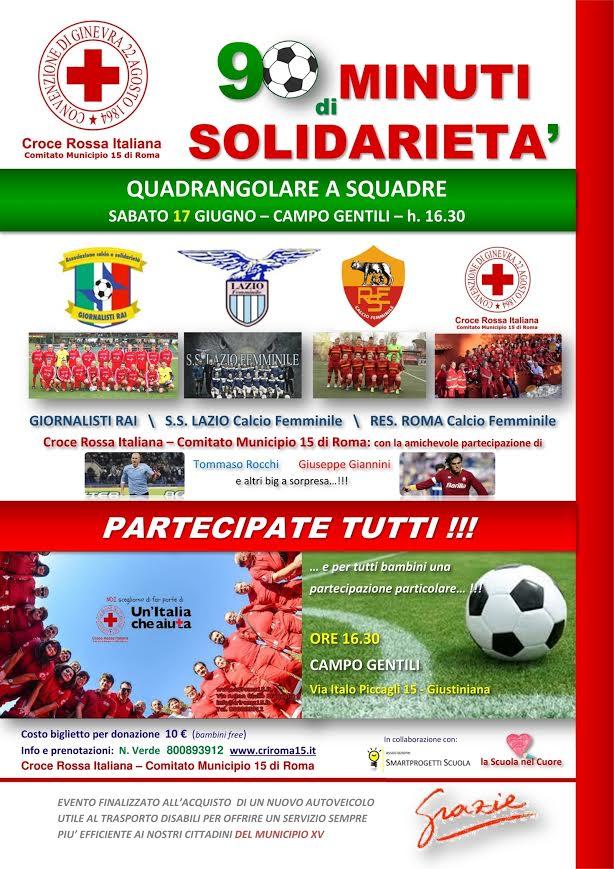 La Giustiniana, 90 minuti di solidarietà con la CRI del XV