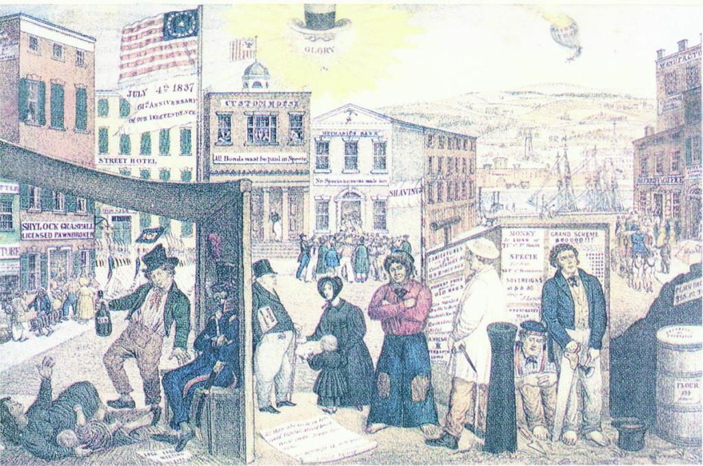 10 maggio 1837: A New York ha inizio il panico del 1837